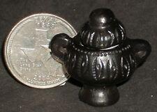 Dollhouse Miniature Mexican San Bartolo Coyotepec Pot Black Clay Decor 1:12 3463