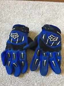 Fox Dirtpaw Motocross Gloves Blue/black Medium Very Good condition