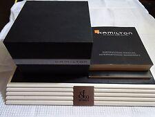 Hamilton Chronograf box, case , caja , scatola ,  boite + 2 books instruccions