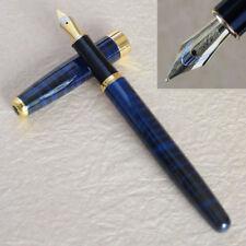 Baoer 388 Blue Marble Metal Fountain Pen Arrow Clip Executive Pen 0.5mm Nib