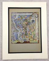 1929 Antico Stampa Bizantina Mosaico Babbo Natale Maria Maggiore Roma Italia Art