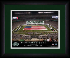 NFL Poster New York Jets Green Framed Personalized MetLife Stadium Print