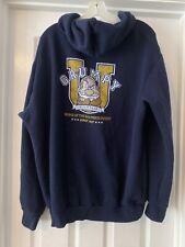 Disney Store Grumpy Hoodie Sweatshirt Size XL XLarge Navy Blue Full Zip