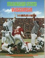 1978 (10/28) NCAA Football program, Wisconsin Badgers @ Michigan State Spartans