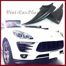 UNPAINTED Black Front Bumper Splitter Lip Fit 2015 2016 Porsche Macan S & Diesel