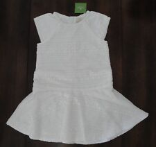 NWT Kate Spade Girl's S/S White Crocheted Lace Drop Waist Dress 122/7Y NEW $128