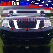 For Nissan PATHFINDER 2008-2012 3PC Upper Main Black Grille OVERLAYS w/o Logo