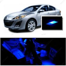 For Mazda 3 2014-2016 Blue LED Interior Kit + Blue License Light LED