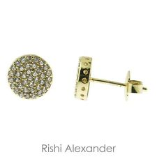 18k Gold Filled Pave CZ Stud Earrings