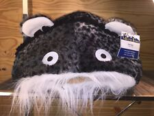 Meow Town Cat Cave in Grey Leopard Print Plush 15� W X 11� H Cat Bed Nwt