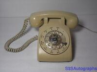 RARE Vtg 1978 RETRO Beige STROMBERG-CARLSON 500 Desktop Rotary Dial Telephone