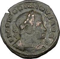 MAXIMINUS II Daia Large Authentic  Ancient Roman Coin Genius Cult Wealth i39084