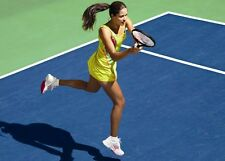 RARE! ANA IVANOVIC ADIDAS RARE LABLIME HOT NEON YELLOW TENNIS DRESS M  ADIZERO