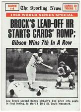 """1969 Topps #165  """"BROCK'S LEAD-OFF HR STARTS CARDS ROMP""""  W.S. GM #4   EX to EX+"""