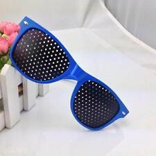 Blue Frame Vision Care Improver Pinhole Glasses Anti-fatigue Stenopeic Glasses