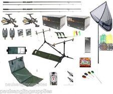 Supreme Carp Fishing Set Kit Rods Reels Alarms Bait Tackle Tools Mat Hooks Boils
