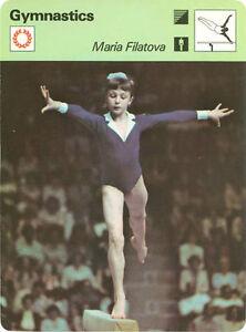 MARIA FILATOVA 1979 Sportscaster Card #60-19 High #   GYMNASTICS