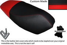 RED & BLACK CUSTOM FITS APRILIA RALLY 50 DUAL LEATHER SEAT COVER
