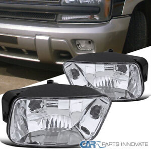 For 02-09 Trailblazer Clear Fog Lights Front Driving Bumper Lamps+880 Bulbs