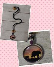 Handmade Crochet Elephant bookmark black thread