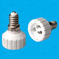 Small Edison Screw SES E14 To GU10 Light Bulb Adaptor Lamp Converter Holder