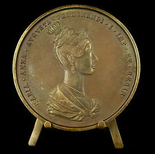 Médaille Maria Anna Ferdinandi of Savoy Medal 1836 Prague Coronation Ferdinand