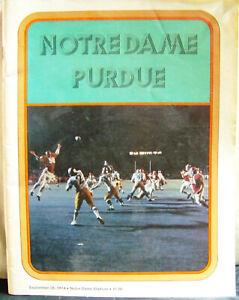 1974 Notre Dame Fighting Irish vs Purdue Football Sept 28, 1974