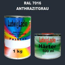 RAL 7016 Anthrazitgrau 1,5 kg Acryllack glänzend mit Härter Lkwlack