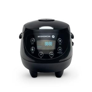 Reishunger Digitaler Mini Reiskocher Black 0,6l/3 Personen, Multikocher, B-Ware