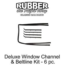 1987 - 1998 Ford Truck & Bronco Deluxe Window Run Channel & Beltline Kit - 6 pc.
