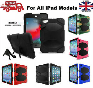 Shockproof Heavy Duty Rubber Hard Case for all Apple iPad Models in 5 Colors