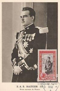 ***MAXIMUM-CARD***FÜRST RAINIER-GRIMALDI-MONACO-Adel-Royal-Monarchie-1950