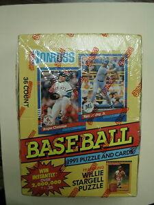 1991 Donruss Baseball Cards Series 1 Factory Sealed Wax Boxes 36 Packs