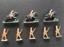 8 Vintage John Hill & Co Lead Soldiers 3 Cavalry on Horses 5 Infantry Soldier