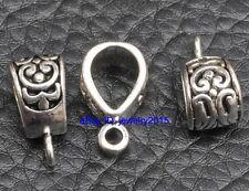 20pcs Tibetan Silver  charms Connectors pendant Bails 18mm G3406