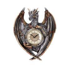 More details for nemesis now dracus horologium 27.5cm dragon wall clock
