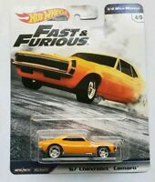 Hot Wheels Fast And Furious 67 Chevrolet Camaro 1/4 Mile Muscle 4/5 VHTF