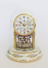 Porcelain Anniversary Clock  with Carousel Rotating Pendulum