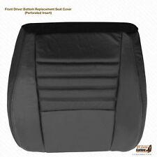 1999 2000 Ford Mustang GT Coupe - Driver Bottom Perforated Leather Cover BLACK