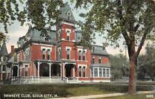 HAWKEYE CLUB Sioux City, Iowa 1908 Vintage Postcard
