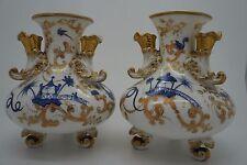 Paire de Vases Porcelaine de Paris Oriental Corne d' abondance fin XIX eme
