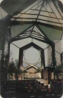 Inside Wayfarers' Glass Chapel Portuguese Bend, California Vintage Postcard
