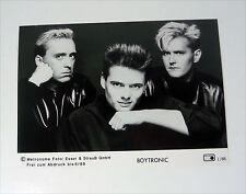 BOYTRONIC - 80s PRESSE Foto SET CARD Photo PICTURE Promo