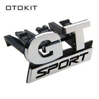 Car Chrome GT SPORT Front Grille Badge Emblem For Volkswagen VW Polo Golf Passat
