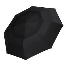 Windproof Travel Umbrella Double Canopy Construction Auto Open Close Compact NEW