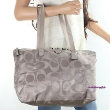 NEW Coach Signature Nylon Packable Weekender Tote Shoulder Bag F77321 NEW RARE