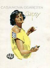 1940 German CASANOVA CIGARETTEN Tobacco Advertising Print Poster Lithograph WWII