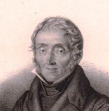 Lithographie Emmanuel de Las Cases Blan Tarn Napoléon Bonaparte Sainte-Hélène