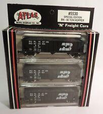 N Scale Atlas #5530 Burlington Northern (BN) 90 Ton Hopper 3-Pack 3 #s NOS
