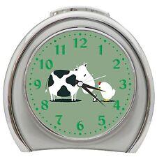 Cow Chicken Egg Desktop Night Light Travel Alarm Clock